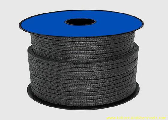 China Embalaje negro del Teflon PTFE para la cuerda del material de lacre/del casquillo de empaquetadura del grafito distribuidor